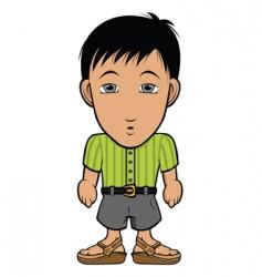 chibi guy nerd vector image