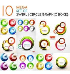 Circle swirl banners design collection vector