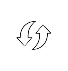 circular arrows hand drawn sketch icon vector image