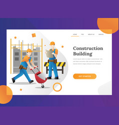 construction builder landing page vector image