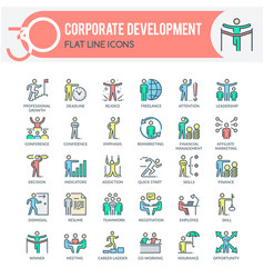 corporate development icons vector image