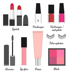 Cosmetics set for a make-up set 1 vector image