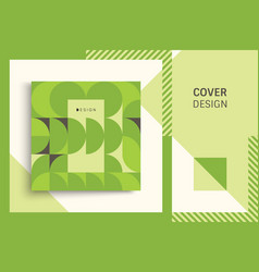 cover design template for advertising abstract vector image