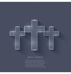 cross on blue background Eps 10 vector image