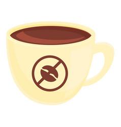 Decaf coffee cup icon cartoon style vector
