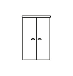double door icon vector image
