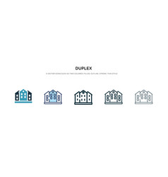 Duplex icon in different style two colored and vector