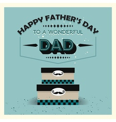 Fathers day boxes vector image