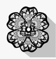 flower with mandala boho style vector image