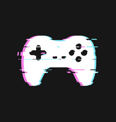 Glitched icon gamepad vector