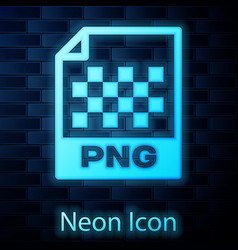 Glowing neon png file document icon download png vector