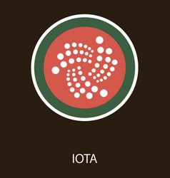Golden iota coin crypto currency blockchain coin vector