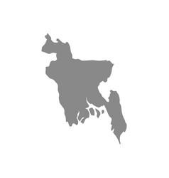 Gray bangladesh map silhouette vector