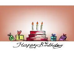 Happy birthday free handdrawing vector