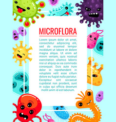 healthcare poster microbes and viruses frame vector image