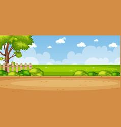 Horizon nature scene or landscape countryside vector