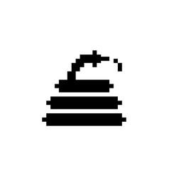 Hose pixel icon gardening vector