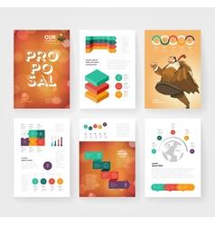 Infographics brochure vector