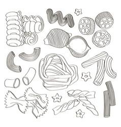 Italian pasta food set icon vector
