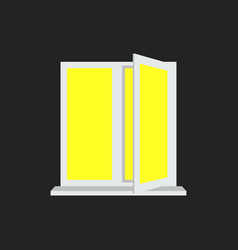 Light from the open window yellow light vector