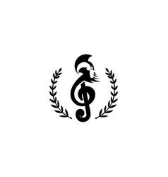 Logo roman music tones vector