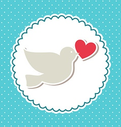 love bird design vector image