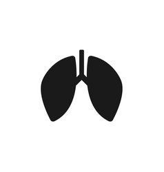 lung icon design template isolated vector image