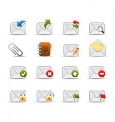 mail icons smooth series vector image