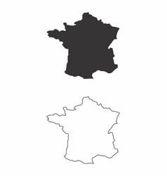 maps of france vector image