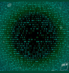 Matrix background with the green symbols volume vector