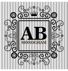 Monogram background design vector