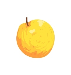 Orange Isolated Apple Funky Hand Drawn Fresh Fruit vector