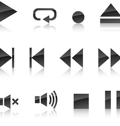 Player icon set vector