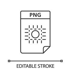 Png file linear icon image file format raster vector