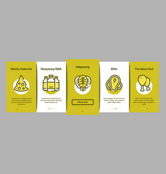 protein food nutrition onboarding elements icons vector image