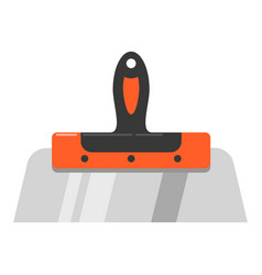 putty knife builder tape brush icon vector image