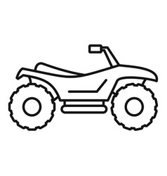 Quad bike icon outline style vector