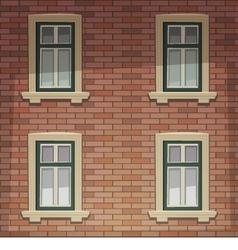 Retro Building Facade vector