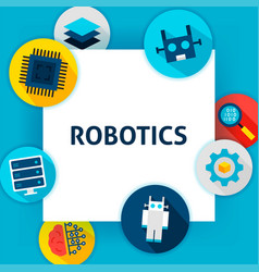 robotics tech template vector image