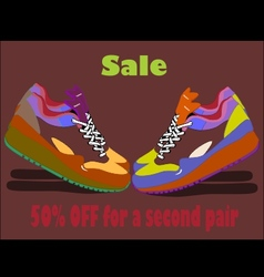 SALE shoes poster vector image