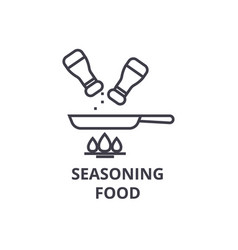 seasoning food line icon outline sign linear vector image