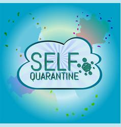 Self quarantine covid-19 coronavirus vector