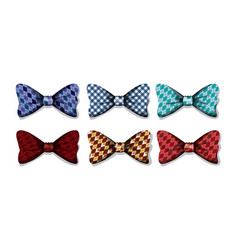 set elegants bowties icons vector image