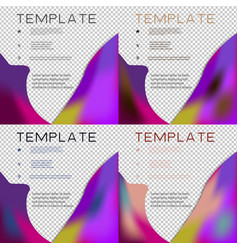 Set of brochure template layout design corporate vector