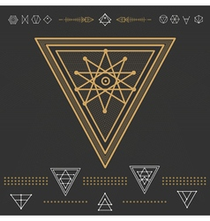Set of geometric hipster shapes 9zn72211d3black vector