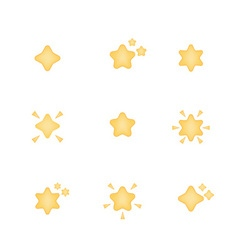Set of star icon vector image
