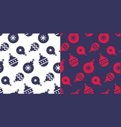 simple classic xmas seamless pattern set vector image