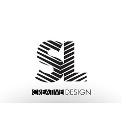 sl s l lines letter design with creative elegant vector image