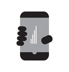 Smart phone full signal vector image