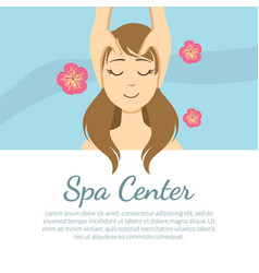 spa center banner template with space for text vector image